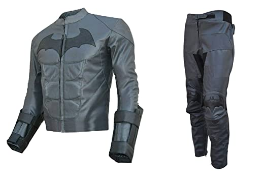 LEATHERAY Mens Fashion Motorbike Batman Real Leather Suit ...