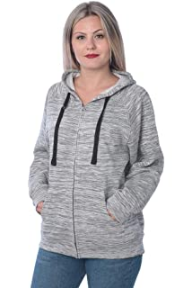 1a202f3ab29 Beverly Rock Womens Sweatshirt Plus Size Heavyweight Active Fleece Full Zip-Up  Hoodie