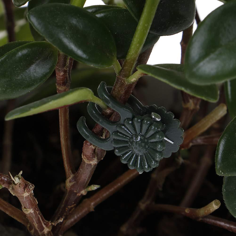 ADFEN 20 Pcs Plastic Plant Fix Clips Orchidee Stem Wijnstok Ondersteuning Groenten Boerderij Bloemen Fruit Gebonden Bundel Tak Vastklemmen Tuingereedschap