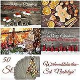 50 nostalgische Weihnachtskarten - das große Set