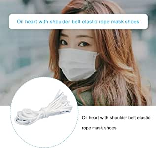 3mm Elastic Cord, Stretch String Braided Band Rope,Round Elastic Band Elastic Rope Oil Core with Strap Elastic Strap Mask Shoes and Hat Rope Circle Center (5 Meters)