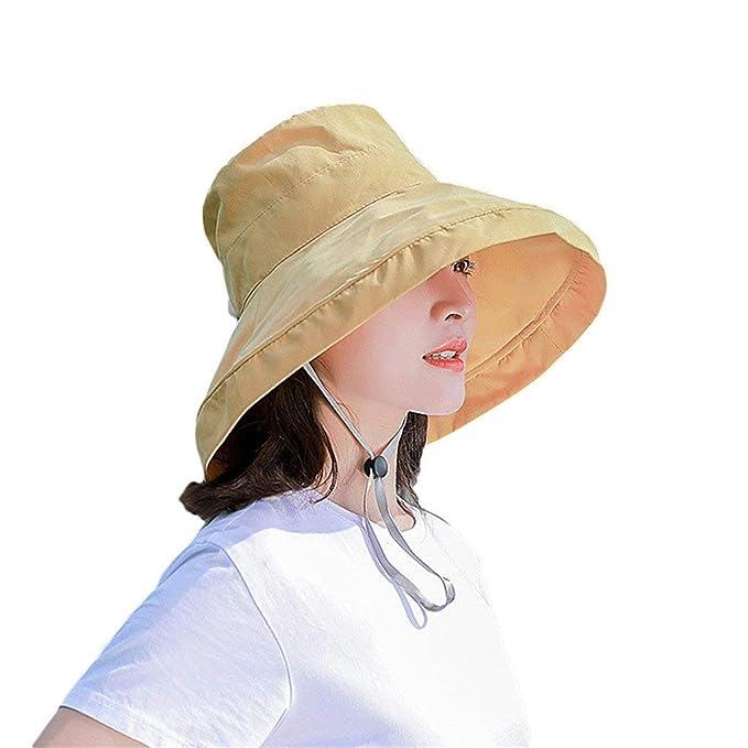 riou Sombrero de Pescador al Aire Libre para Mujer Sombrero de Sol ...
