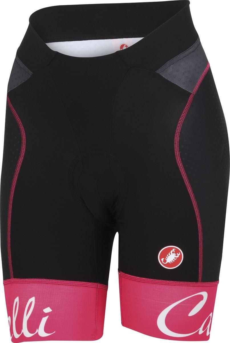 Castelli Free Aero Short - Women's Black/Raspberry Size L