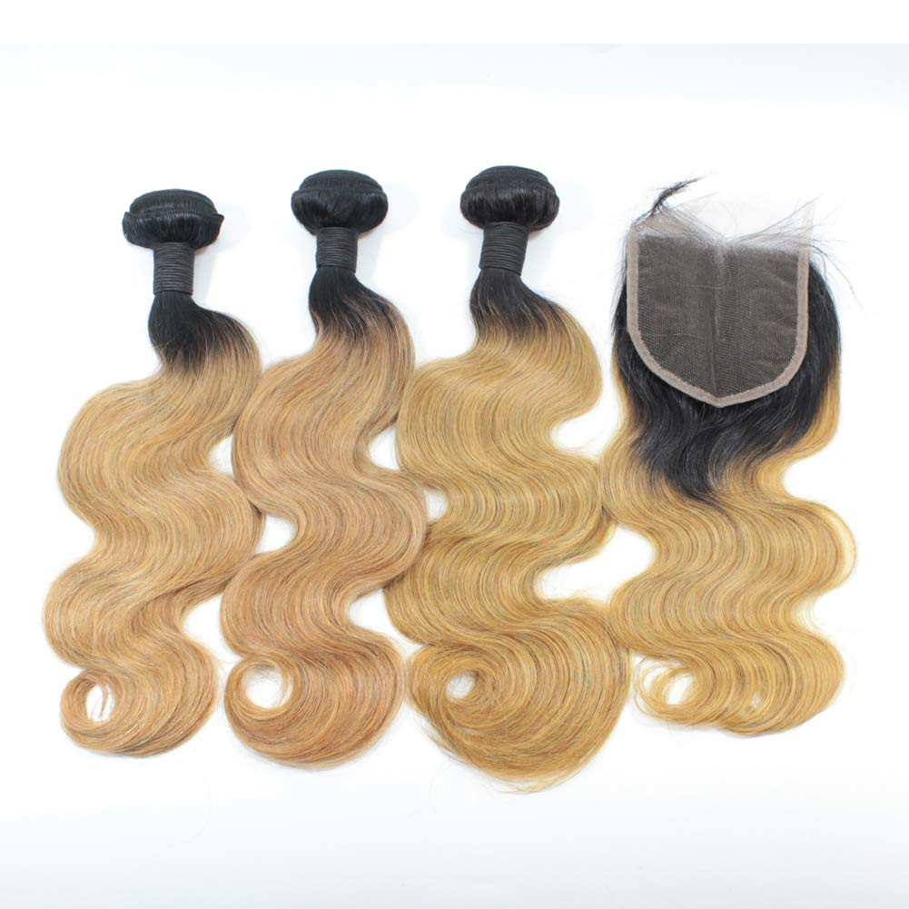 Forawme 1B 27 Blonde Ombre Brazilian Cl Special sale item Hair Virgin Bundles Clearance SALE! Limited time! with