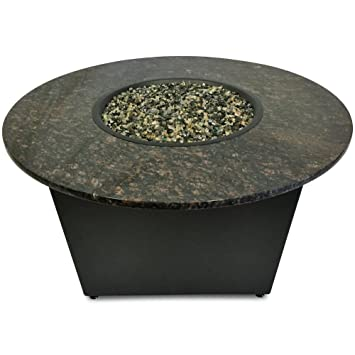 tan color tables amazoncom firetainment the santiago fire pit table with tan
