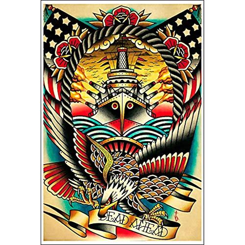 Dead Ahead by Tyler Bredeweg American Traditional Tattoo Art Print for Framing