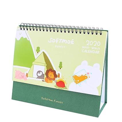 Calendario de escritorio de pie con diseño de dibujos animados de ...