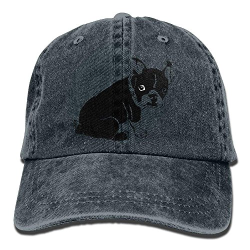 Adjustable Cap Terrier Gorras Fitted Female Black béisbol Baseball Hat Yuerb Boston Denim q0APqwx