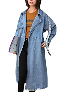 c5170e18bcac ... Plus Size Ripped-Holes Spring Summer Jean Jacket Coat. 6 offers from   12.65 · AngelSpace Womens Baggy Casual Leisure Spring Smocked Waist Denim  Jacket