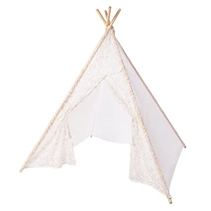 Lingu0027s moment Romantic White Sheer Feather Kids Teepee Tent for Kids Indian Teepee Tent Kids Play  sc 1 st  Amazon.com & Amazon.com: Lingu0027s moment Romantic White Sheer Feather Kids Teepee ...
