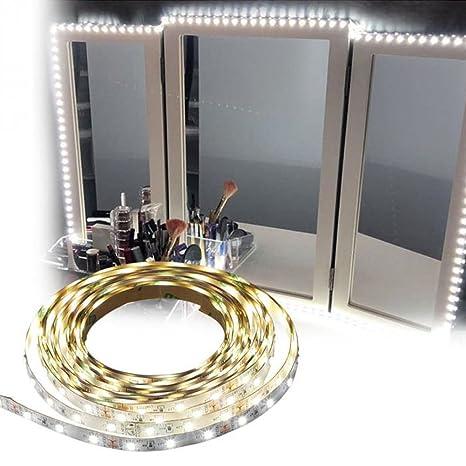 Alotm - Tira de luces LED para espejo retrovisor (4 m, luz LED para
