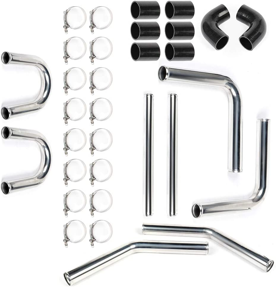 Silicone Hose T-Clamp Kit 2 Universal 8pcs Intercooler Turbo Pipe Piping