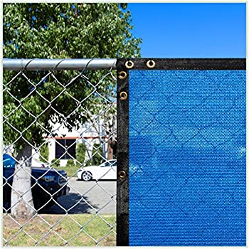 Amazon Com Colourtree 6 X 50 Blue Fence Privacy Screen Windscreen Commercial Grade 170 Gsm Heavy Duty We Make Custom Size Garden Outdoor
