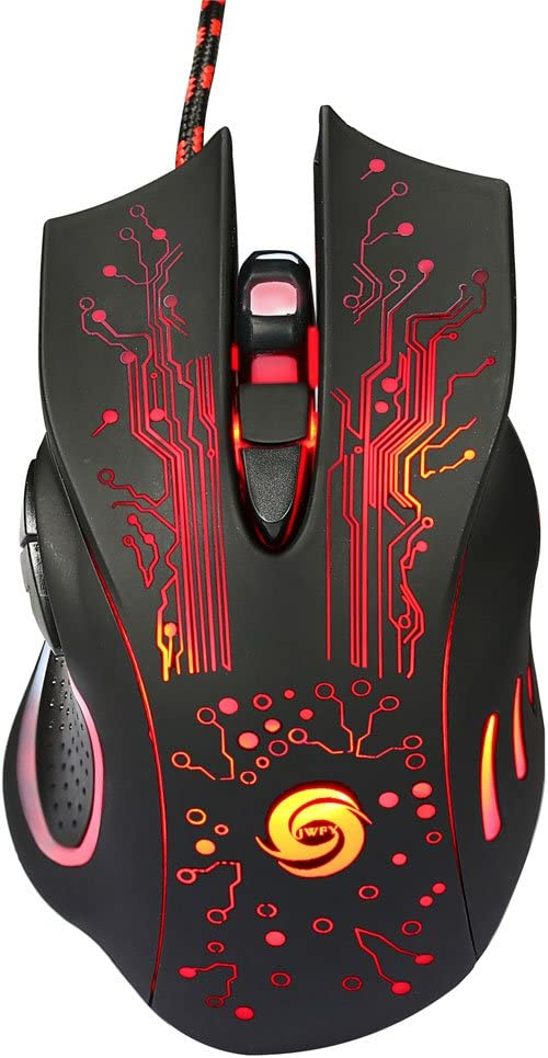 A885 5500DPI 6-Button LED USB Optical Wired Gaming Mouse for Pro Gamer