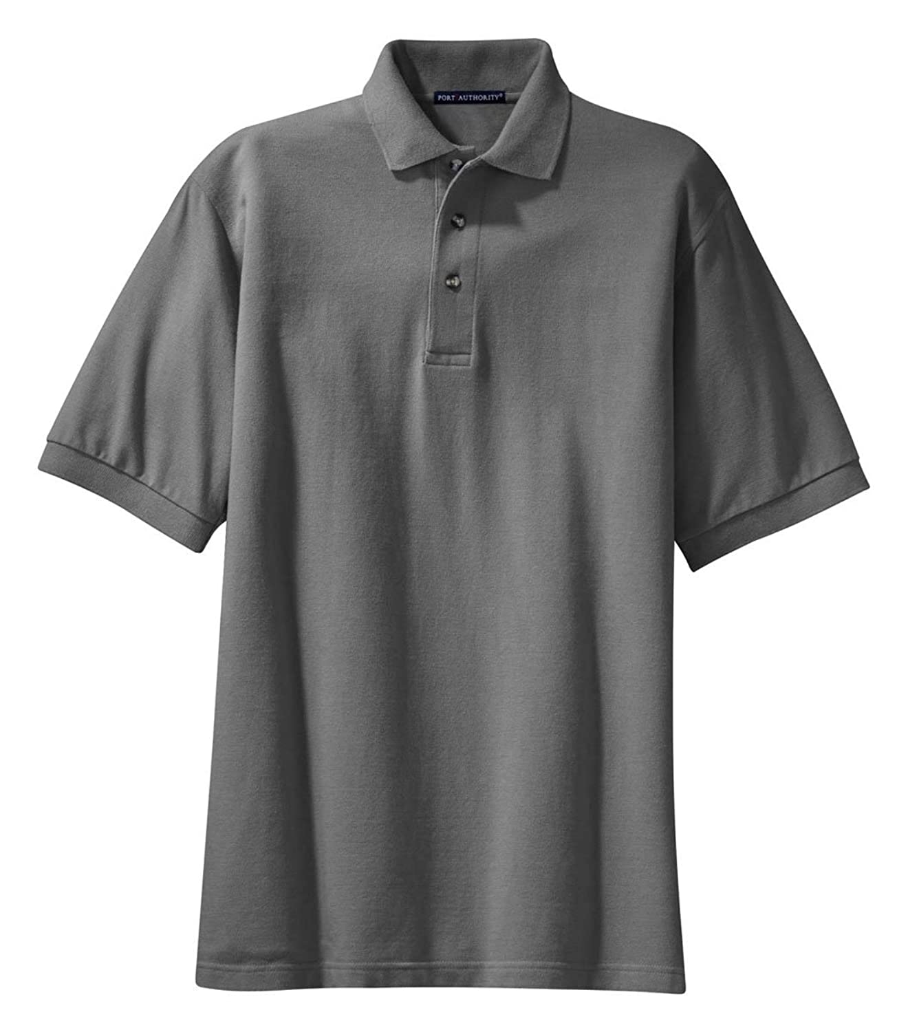 Port Authority Pique Knit Sport Shirt, Steel Grey
