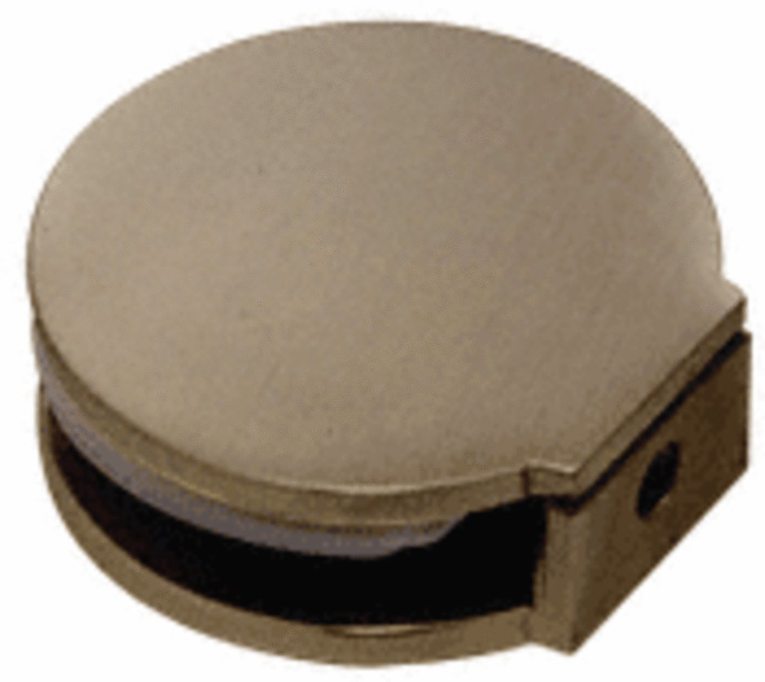 C.R. LAURENCE RC79BBRZ CRL Brushed Bronze Round Fixed Panel U-Clamp