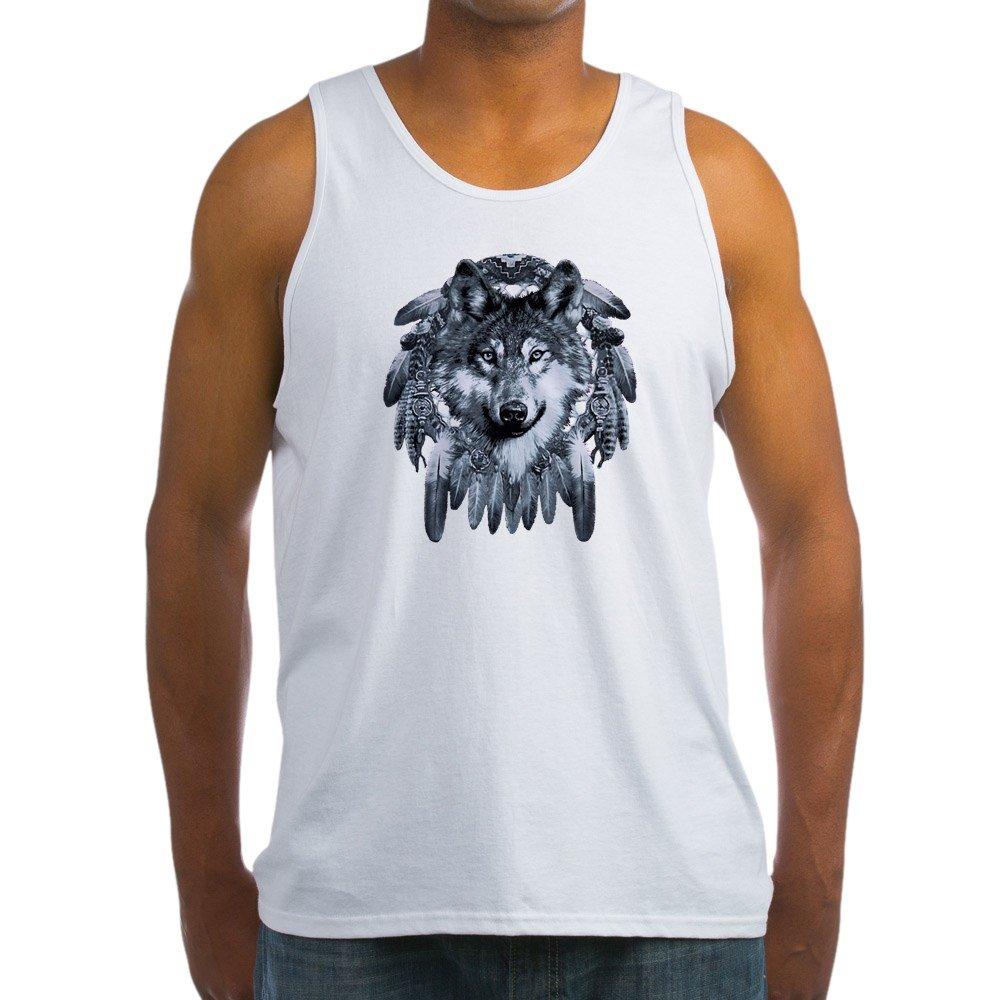 Royal Lion Mens Tank Top Wolf Dreamcatcher