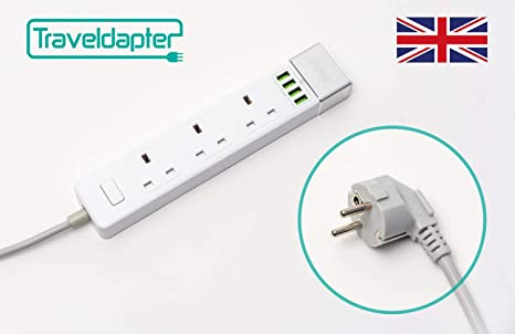 Uk To Eu Romania European Adapter Plug Type F For Spain Amazon Co Uk Electronics - 37+ What Is A Type F Plug? Pics