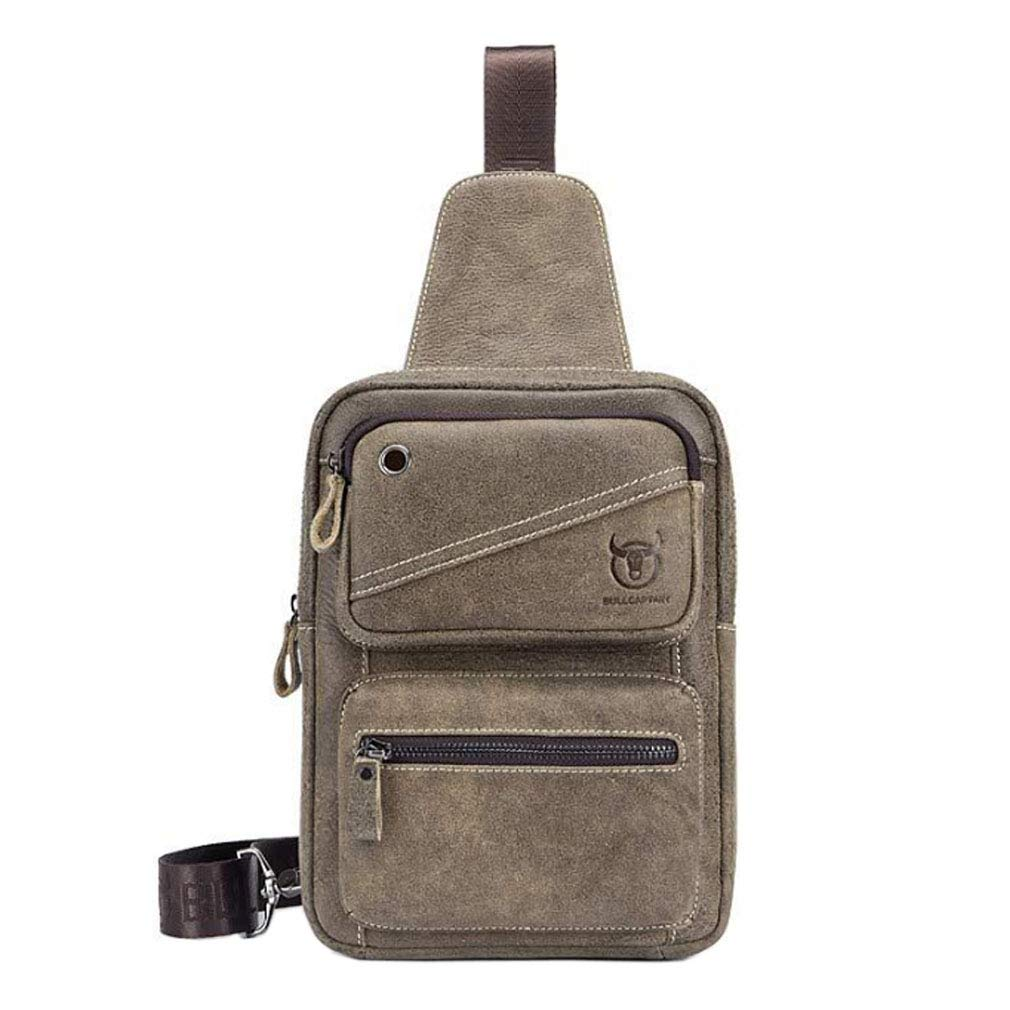Amazon.com   Xieben Vintage Leather Sling Chest Pack Crossbody Bag Shoulder  Backpack Rucksack Daypack for Sport Travel School Business Cycling Hiking  ... 4cf6e9e2f8b5b