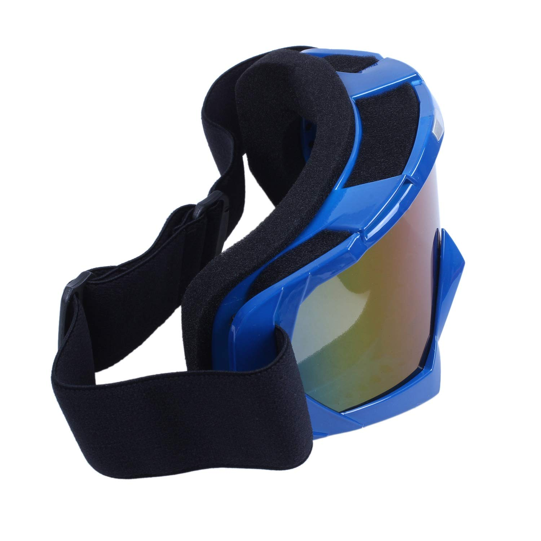 Naliovker Gafas de Esqui de Motocicleta Resistente Polvos TV Fuera de la Carretera de Motocross de un Solo Lente de Color Naranja