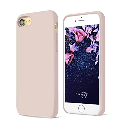 5063cbab43f9 SURPHY Coque iPhone 8 Coque iPhone 7, Coque Silicone Liquide Anti-Rayures  Ultra Mince