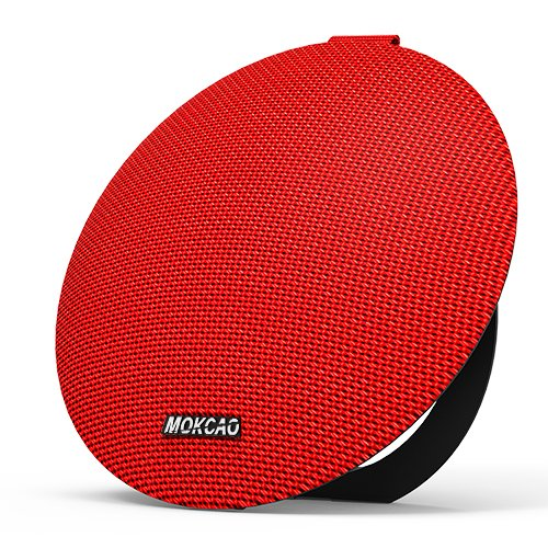 MOKCAO Style Bluetooth Speakers 4.2,Portable Wireless Speaker with 15W Super Stereo Sound,Strong Bass,Waterproof IPX7, 2500mAh Battery, Perfect for iPhone/Android Devices-Red