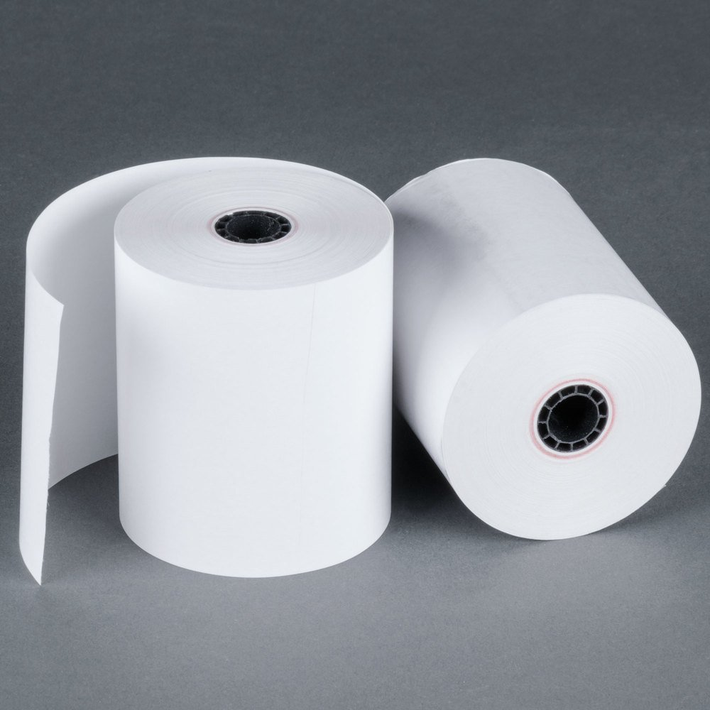 One-Ply Thermal Cash Register/Point of Sale Roll, 3-1/8 in. x 220 ft, White, 50/CT - Sold As 1 Carton - Top quality thermal roll guaranteed to work efficiently with your machine printhead. Sold by BRR by BuyRegisterRolls