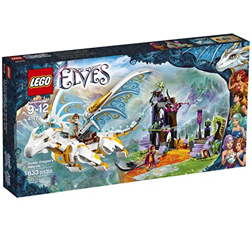 LEGO Elves Queen Dragon's Rescue 41179 Building Kit (833 Pieces)
