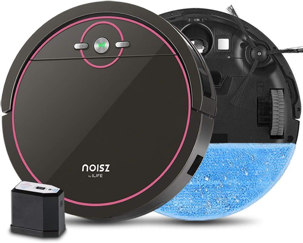 NOISZ 해서 아이 라이프 S5PRO 2-에서-1 총정리 로봇의 진공으로 ELECTROWALL 자동 충전 MAX 물 탱크 엉킴 자유로운 조용위한 이상적인 애완 동물 케어 하드의 바닥과 더미 낮은 카펫. (갱신)