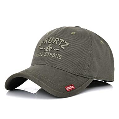 2338fd36565a4 Men s Hats Stylish Wild Adjustable Baseball Caps with Letters Embroidery  Spring Autumn Tongue Cap Army Green