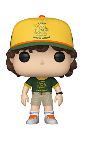 Funko- Pop Vinilo: Stranger Things: Dustin (At Camp) Figura Coleccionable, (38532)