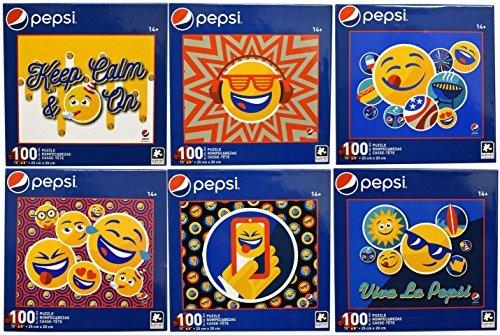 Set of 6 Collectible Pepsi Emoji 100pc Puzzles! 10
