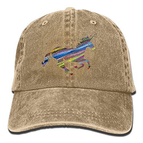 GqutiyulU Streaked Magical Unicorn Adult Cowboy Hat Natural ()