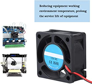 Wendry 3D Printer Cooling Fan, DC 12V Brushless Cooling Fan with Sleeve Bearing for Hotend Extruder Heatsinks