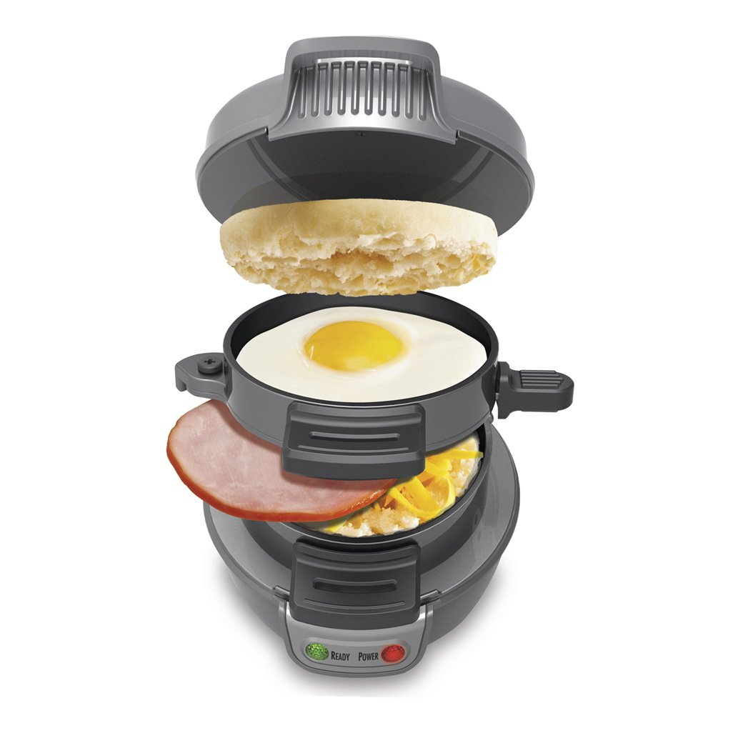 Hamilton Beach Breakfast Sandwich Maker & 150 Breakfast Sandwiches Recipe Book
