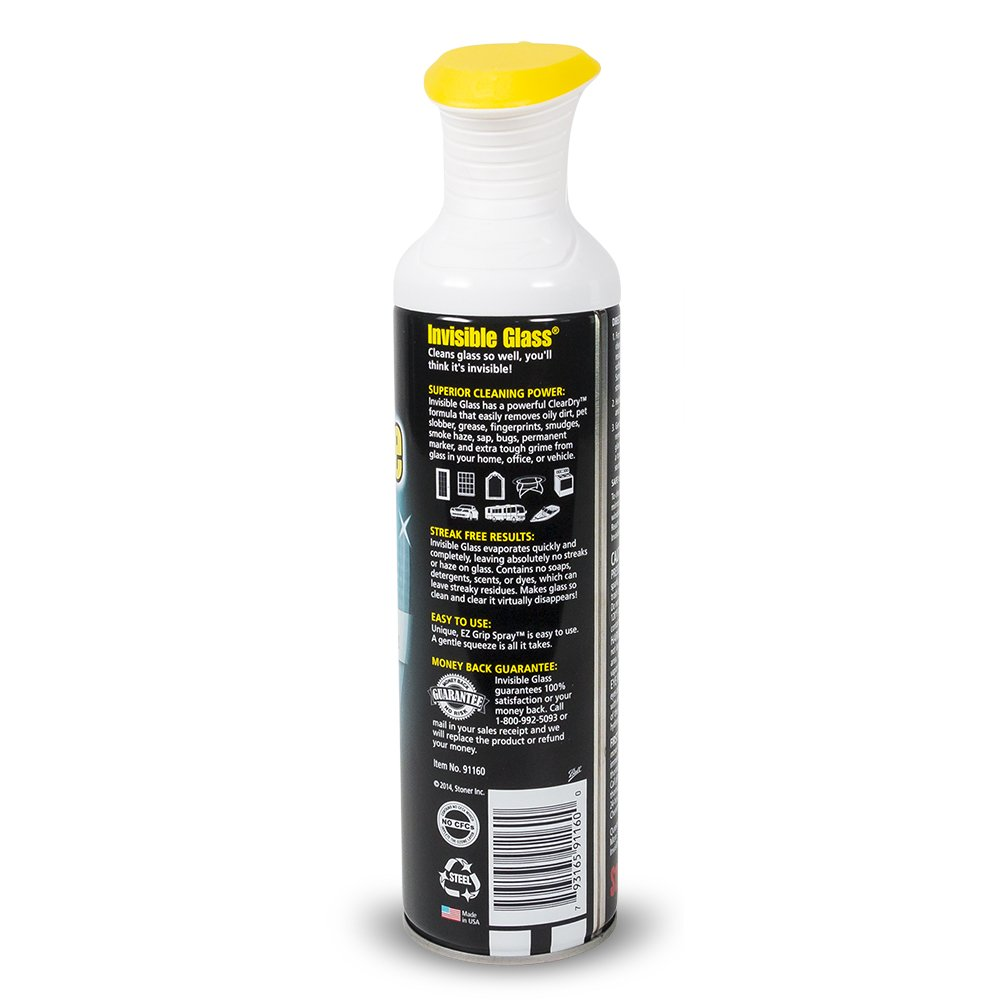 Invisible Glass 91160-6PK Premium Glass Cleaner (with EZ Grip 19-Oz Can), 114. Fluid_Ounces, 6 Pack by Invisible Glass (Image #5)