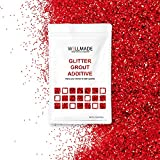 Glitter Grout Tile Additive 150g/5.3oz Glitter for Wall/Floor Tile Grout-DIY Home Wet Room Bathroom Kitchen Sparkle, Add/Mix with Epoxy Resin or Cement Based Grout (150g/5.3oz, Red)