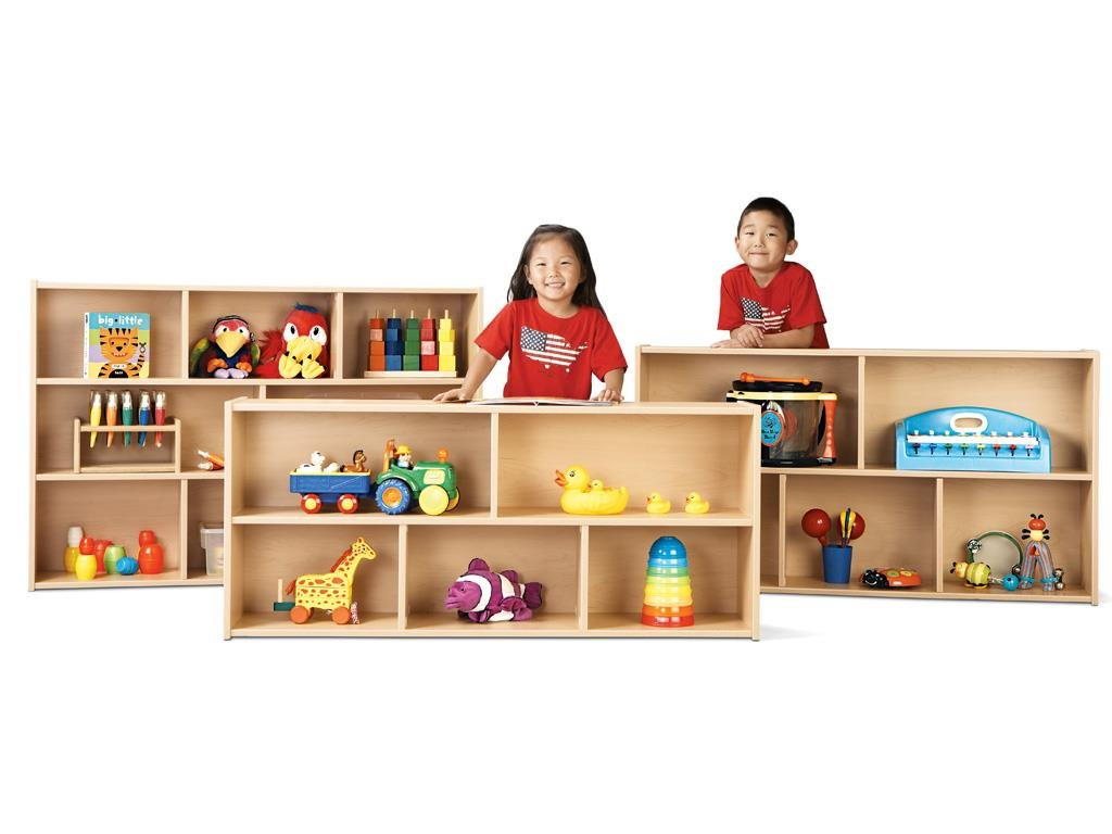 Young Time 7045YR441 Toddler Two Shelf Storage