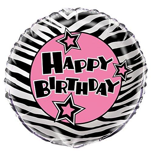 Foil Zebra Print Birthday Balloon
