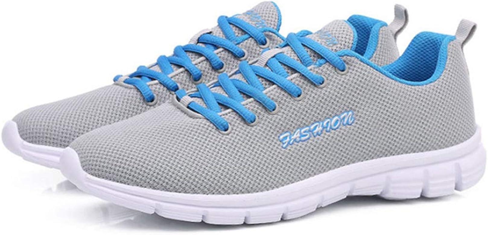 Zapatos para Caminar para Hombres Zapatillas de Deporte Transpirables con Cordones Zapatillas Deportivas para Correr Ligeras y Deportivas al Aire Libre: Amazon.es: Zapatos y complementos