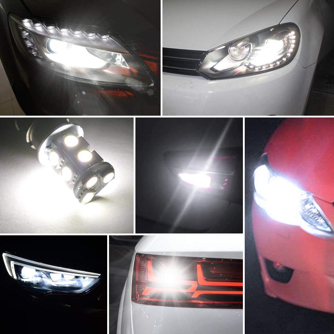 10 Pack 4800K White LED Lamp for RV Trailer Camper Interior Signal Light AUTOSAVER88 1156 LED Light Bulbs