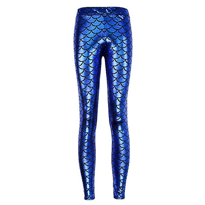 d83e63700a491 Highdas Women Sexy Legging Green Mermaid Leggings Printed Pants Scale Leggings  Plus Size 4XL  Amazon.co.uk  Clothing
