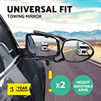 One Pair Caravan Mirrors Blind Spot Car Side Towing Mirrors Universal Fit