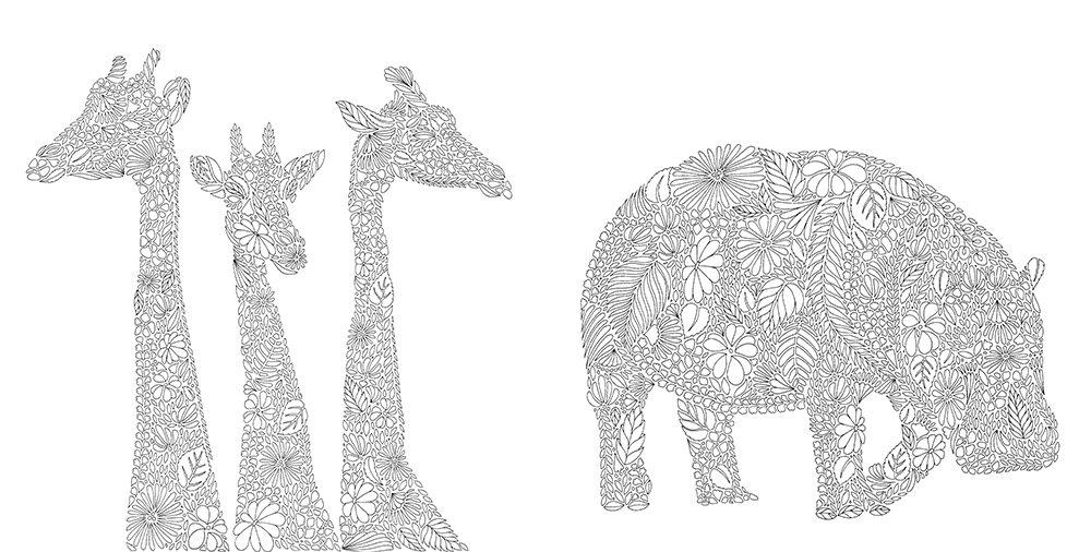 Fantastische Tierwelt: Ein Ausmalbuch zum Entspannen: Amazon.de ...