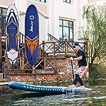 DIMPLEYA-Paddle-Board-Lunghezza-SUP-SUP-365-Centimetri-Tutti-Gonfiabile-Panoramica-per-Colore-Blu-Dimensione-365x81x15cmBlu3