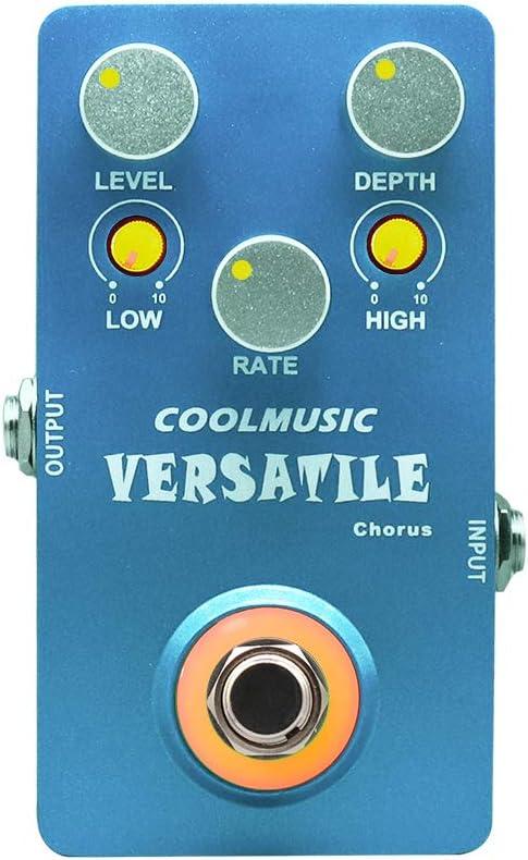 Coolmusic C-CH02 Pedal de efectos de guitarra de coro versátil Pure Analog True Bypass