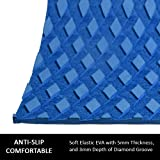 OCEANBROAD 4/8 Pieces x (15in x 10in) Non-Slip Deck Pad Grip Mat, 3M Adhesive Trimmable EVA Traction Anti-Slip Foam Pad Sheet for Boat Kayak Canoe Yacht Pool Step SUP Board
