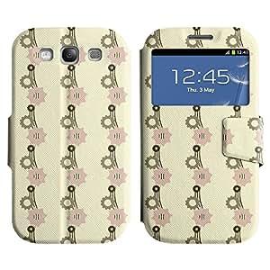 LEOCASE rueda dentada Funda Carcasa Cuero Tapa Case Para Samsung Galaxy S3 I9300 No.1002812
