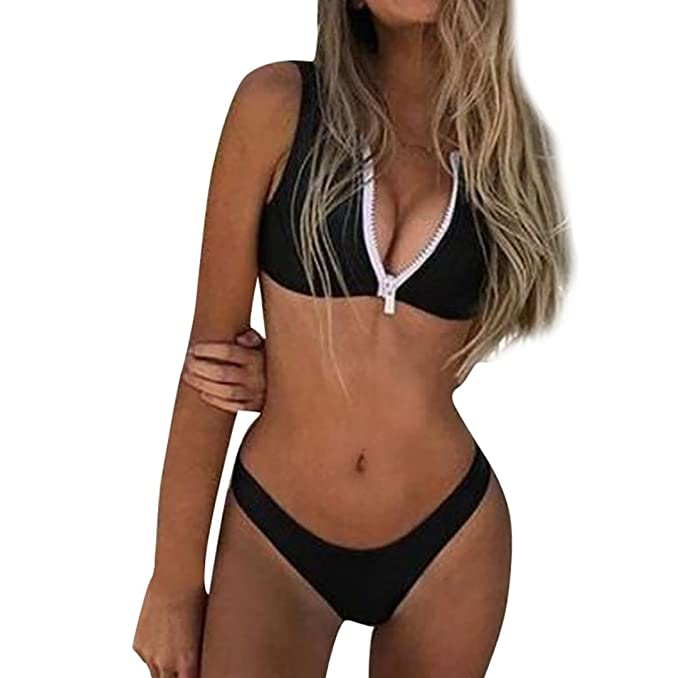 Amazon.com: One _ Day Bikini, traje de baño Mujer Vendaje ...