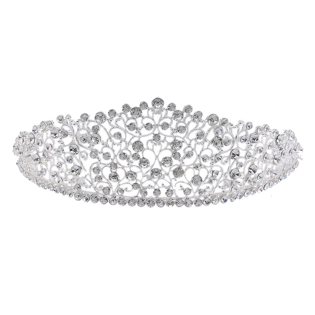Big Wedding Pageant Tiaras Crown Hairband Rhinestone Bridal Crowns For Brides Hair Jewelry Headpiece Sunshinesmile